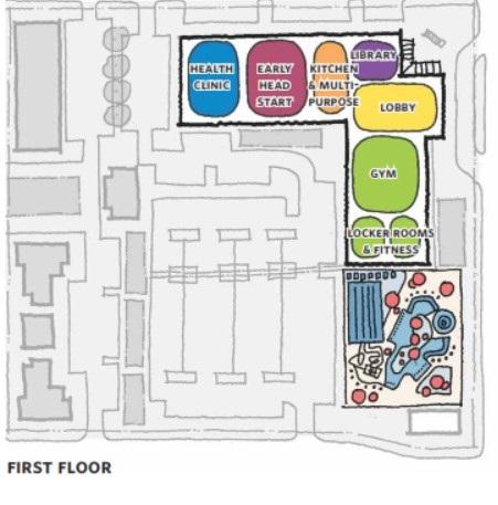 First Floor Plan of the Neighborhood Hub